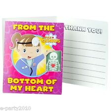 LITTLE GENIUS THANK YOU NOTES (8) ~ Birthday Party Supplies Stationery Cards