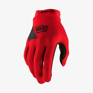 Ride 100% RIDECAMP Mountain Bike Full Finger Gloves Red - LG