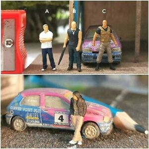 Miniature Figure Fast and Furious Han H0 Scale 1/87 or 1/64 no Preiser Diecast