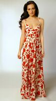 Topshop Floral Strappy Lightweight Cotton Summer Beach Cruise Maxi Dress Size 8