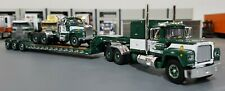 1/64 MACK R-MODEL & B-MODEL AND HEAVY HAUL TRAILER DIECAST MADE BY FIRST GEAR G