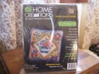"NEW HOME CREATIONS #6195 ""COUNTRY GARDEN""14""X14"" NEEDLEPOINT KIT ALICE PETERSON"