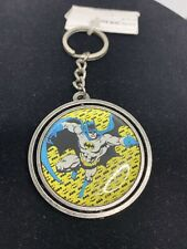 Batman and Joker Keychain Keyring Old School Classic Spinning Caped Crusader