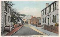 Union St. Looking North, Nantucket, MA, Early Postcard, Unused, Detroit Pub. Co.