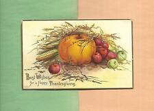 HARVEST BOUNTY, PUMPKIN On Colorful A/S CLAPSADDLE Vintage Unused Postcard
