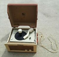 Vintage RCA VICTROLA Victor 8-EY-31 Phonograph Record Player ESTATE SALE FIND