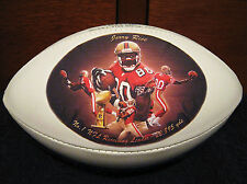 Jerry Rice Football with Art Print of Original Art Work