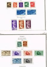 4-PAGES  ITALY F-VF 1948 MLH AND USED  (YLUJ8