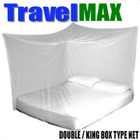 TravelMAX Box Type Mosquito Net Double/King Size Insect Proof Zika Protection