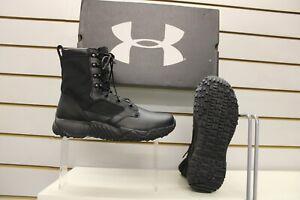 Under Armour UA Jungle Rat Black leather / Nylon Combat / Uniform Boots UK 7.5