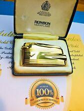More details for vintage ronson varaflame. 24ct gold plated premier. seller refurbished. type b