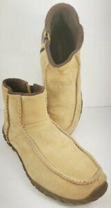 Teva Men's Side Zip Chukka Chelsea Boot Size 11M Tan Smooth Suede 6795