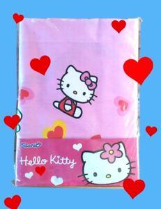 Lenzuola in cotone per letto singolo Hello Kitty