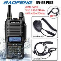 Baofeng UV-9R Plus Walkie Talkie VHF UHF Dual Band Two Way Radio Earpiece