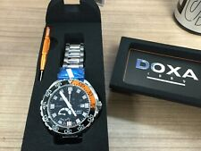 Doxa Sub 4000T Sharkhunter Sapphire Bezel Automatic Watch with Black Dial - BNIB
