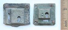 2 x Antique Old Bronze Escutcheon Keyhole