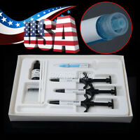 Dental Ortho Brackets Bonding System Adhesive Light Cure Kits 3 Syringes