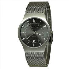 Skagen Men's Quartz Grey Titanium Case Stainless Steel Mesh Watch 233XLTTM