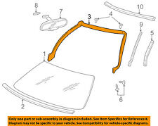 Chevrolet GM OEM 97-04 Corvette Windshield-Weatherstrip Seal 10333466