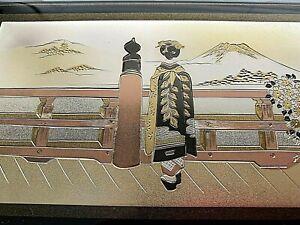 """Japanese Lacquerware Music Jewelry  Box """"SUKIYAKI """" Made in Japan"""