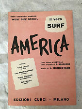 SPARTITO MUSICALE AMERICA COMMEDIA WEST SIDE STORY DEVILLI S. SONDHEIM 1957