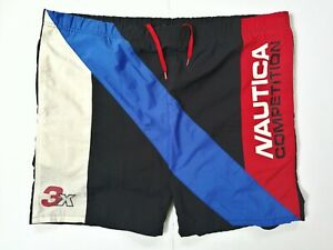 Vintage Nautica Competition Swim Shorts Trunks Suit Spell Out M