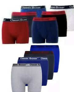 Mens Boxer Spandex  Shorts  Ribbed Sports Briefs Underwear Cotton  3  6  Packs