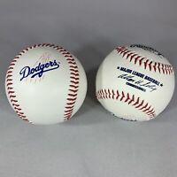 Los Angeles Dodgers Team Logo Ball MLB Baseball Rawlings 2 Lot 2004
