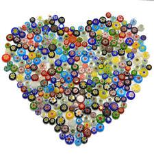 50pcs Glass Mosaics Tiles Decorative Diy Crafts Perforated Glass Flower Beads