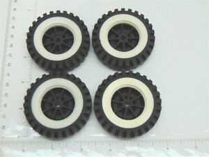 Set of 4 Tonka Plastic Wheels/Inserts Replacement Toy Parts TKP-072-4