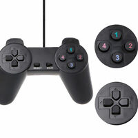 Black Exciting Wired USB Controller Joystick Joypad For Excited PC Computer Game