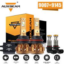 4x AUXBEAM LED Canbus Headlight 9007 + 9145 Fog Lights for Ford Ranger 2001-2011