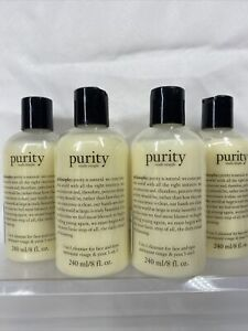 (4) Philosophy Purity Made Simple One Step Facial Cleanser 3in1 Face Eyes 8oz