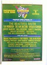 FLEADH 1995 Poster Advert BEAUTIFUL SOUTH VAN MORRISON SHANE MacGOWAN DUBLINERS