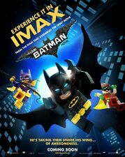 LEGO BATMAN 9 x 13 IMAX PROMO MOVIE POSTER - Will Arnett - Zach Galifianakis