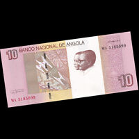 Bundle Lot 100 PCS, Angola 10 Kwanzas, 2012(2017), P-NEW, NEW DESIGN, UNC