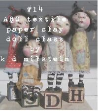 online paper clay and textile cloth doll class faded west