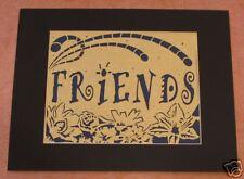 """8x10"""" FRIENDS Papercutting/Scherenschnitte"""