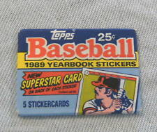 #D17. UNOPENED PACK OF 1989 TOPPS BASEBALL YEARBOOK STICKERS