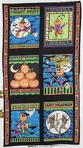 Halloween Boo Crew Quilt Panel by RJR Fabrics btp PRICE REDUCED