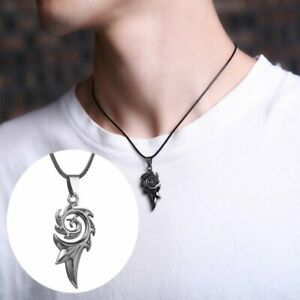 Fashion Stainless Steel Flame Shape Pendant Necklace Chain Jewelry Men Hot Gift