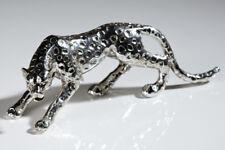 Skulptur 'Gepard' antiksilber Länge 28 cm Geschenk Deko Figur Raubkatze NEU