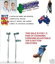 CRUTCHES ERGONOMIC FOREARM ADJUSTABLE 12 POSITIONS BOTTOM 4 TOP POSITIONS