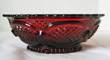 "Vintage Avon Cape Cod Ruby Red Sandwich Glass 5"" Small Bowl"