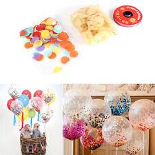 20x 30cm Transparent Latex Balloon Confetti Paper Party Wedding Birthday Décor H