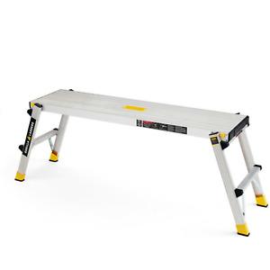 Gorilla Ladders Work Platform 300 lbs. Capacity Foldable Aluminum Heavy-Duty