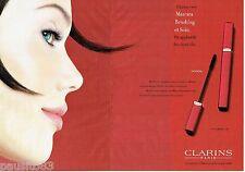 PUBLICITE ADVERTISING 116  2002   Clarins  (2p) maquillage mascara