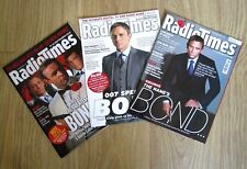 3 x Radio Times Magazines with articles on James Bond 007 - from 2006 2008 2012