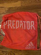adidas Predator 2020 Mesh Soccer Shoe Sack Gym Pack Fitness Bag Pink White