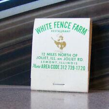Vintage Matchbook W9 Circa 1940 Lemont Illinois White Fence Farm Chicken Carry